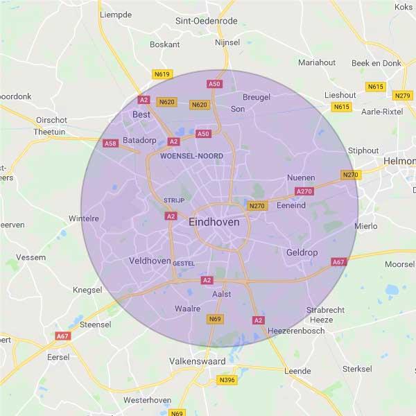 Werkgebied Wildhagen Dakdechniek Eindhoven